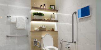 barra de apoio para usar o vaso sanitário