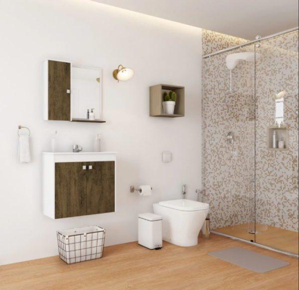 lamina de madeira para o banheiro