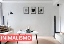 decoração minimalista para a sala,